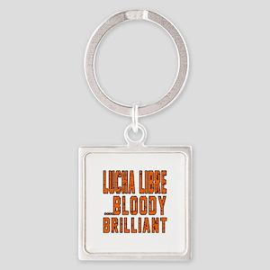 Lucha Libre Bloody Brilliant Desig Square Keychain