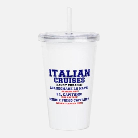 ITALIAN CRUISES - HAND Acrylic Double-wall Tumbler