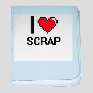 I Love Scrap Digital Design baby blanket