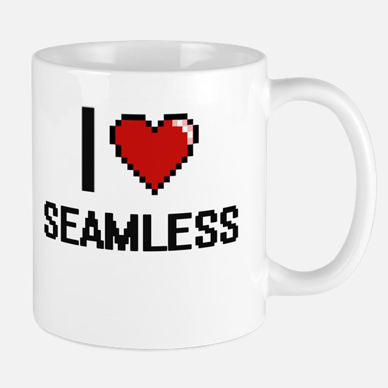I Love Seamless Digital Design Mugs
