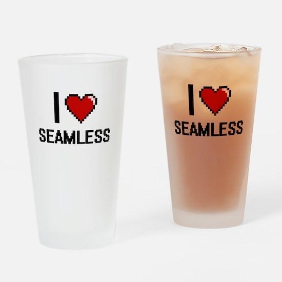 I Love Seamless Digital Design Drinking Glass