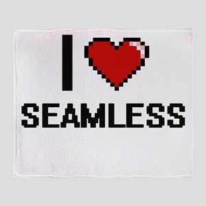 I Love Seamless Digital Design Throw Blanket