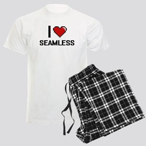I Love Seamless Digital Desig Men's Light Pajamas