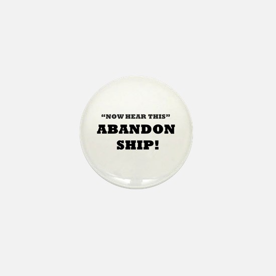 ABANDON SHIP Mini Button