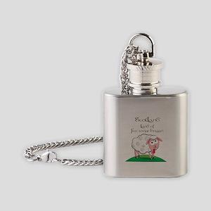Scotland - Land of free range haggis Flask Necklac