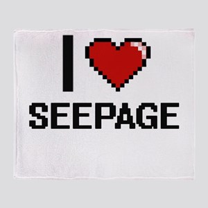 I Love Seepage Digital Design Throw Blanket
