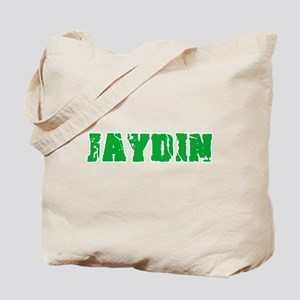 Jaydin Name Weathered Green Design Tote Bag