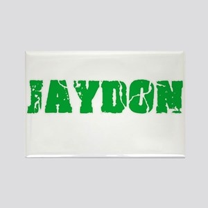 Jaydon Name Weathered Green Design Magnets
