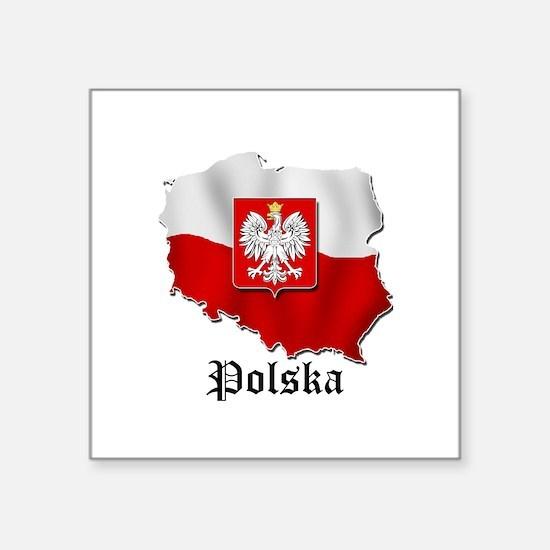 """Cute Polish Square Sticker 3"""" x 3"""""""
