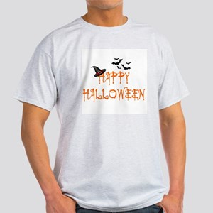 HAPPY HALLOWEEN - WITH WITCH'S HAT A Light T-Shirt