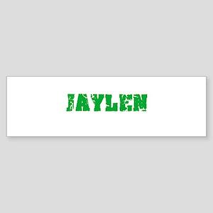 Jaylen Name Weathered Green Design Bumper Sticker