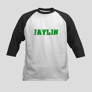Jaylin Name Weathered Green Design Baseball Jersey