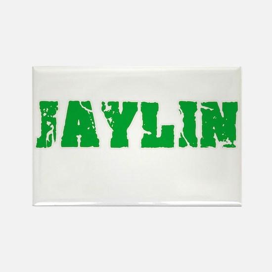 Jaylin Name Weathered Green Design Magnets
