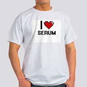 I Love Serum Digital Design T-Shirt
