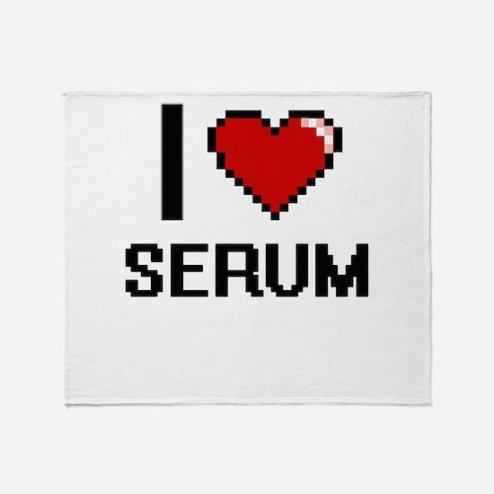 I Love Serum Digital Design Throw Blanket