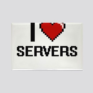 I Love Servers Digital Design Magnets