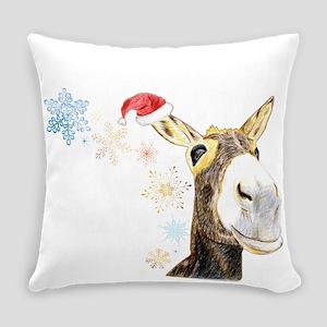 Christmas-Donkey Everyday Pillow