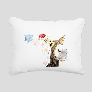 Christmas-Donkey Rectangular Canvas Pillow