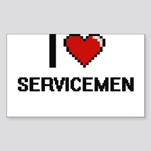 I Love Servicemen Digital Design Sticker