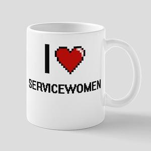 I Love Servicewomen Digital Design Mugs