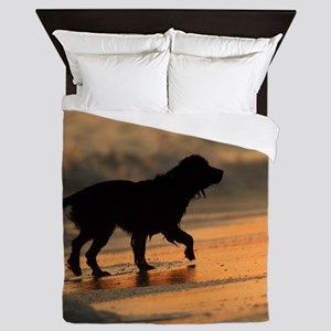Sunset Dog Queen Duvet