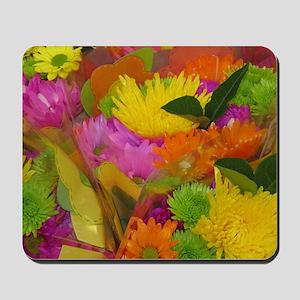 Neon bouquet Mousepad