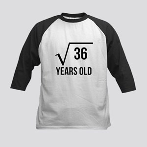 6 Years Old Square Root Baseball Jersey