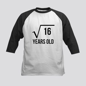 4 Years Old Square Root Baseball Jersey