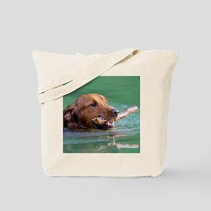 Happy Retriever Dog Tote Bag