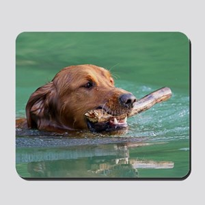 Happy Retriever Dog Mousepad