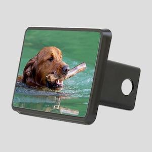 Happy Retriever Dog Rectangular Hitch Cover