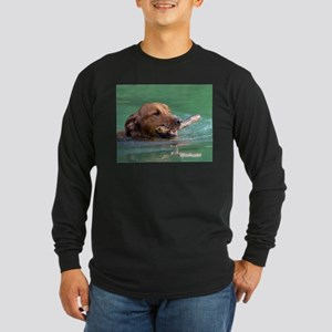 Happy Retriever Dog Long Sleeve T-Shirt