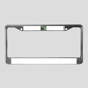 Happy Retriever Dog License Plate Frame