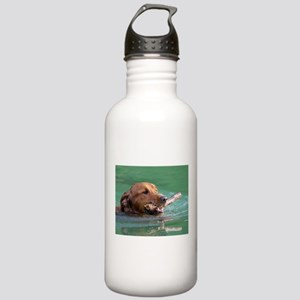 Happy Retriever Dog Stainless Water Bottle 1.0L