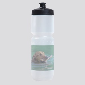 Happy Retriever Dog Sports Bottle