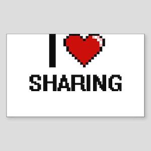 I Love Sharing Digital Design Sticker