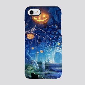 Halloween Night In Cemetery iPhone 8/7 Tough Case