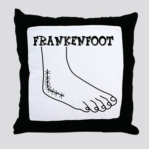 Frankenfoot Throw Pillow