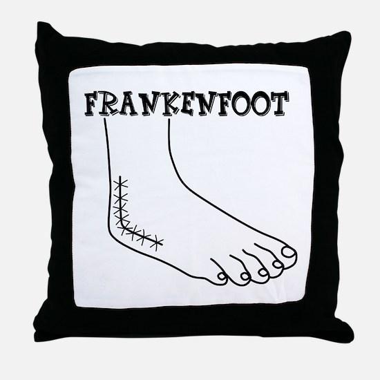 Frankenfoot Throw Pillow