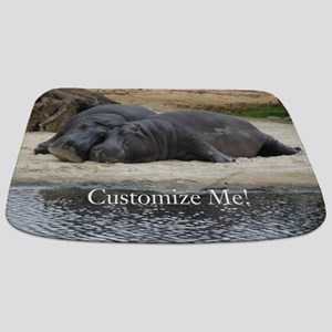 Hippo Love and Snuggles Customizable Bathmat