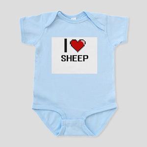 I Love Sheep Digital Design Body Suit