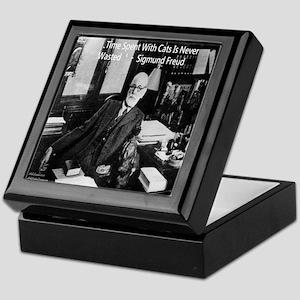 Freud And Cats Keepsake Box