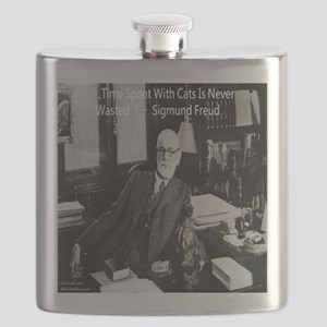 Freud And Cats Flask