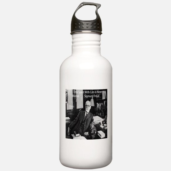 Freud And Cats Water Bottle