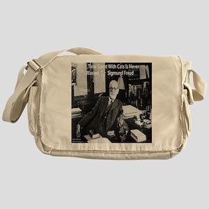 Freud And Cats Messenger Bag
