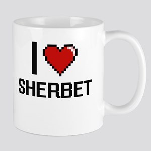 I Love Sherbet Digital Design Mugs