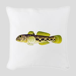 Round Goby Woven Throw Pillow