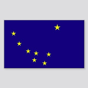 Alaska State Flag Rectangle Sticker