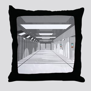 Space ship Throw Pillow