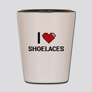 I Love Shoelaces Digital Design Shot Glass
